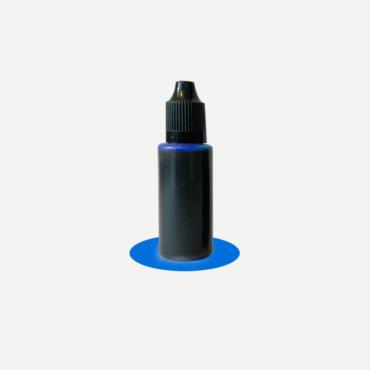 Epoxidharz Farbstoff Flasche, blau