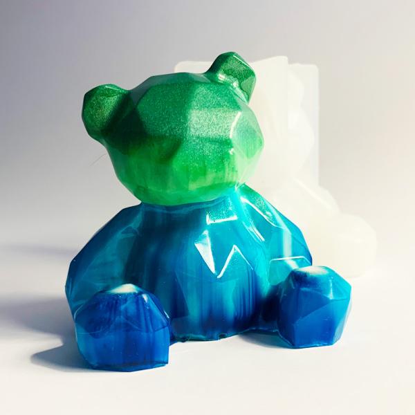 Silikonform Baer, Epoxidharz, blau, gruen