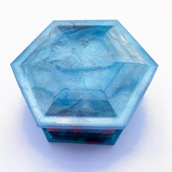 Effektpigment, Hellblau, Epoxidharz