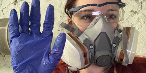 Sicherheit, Maske, Epoxidharz, Handschuhe